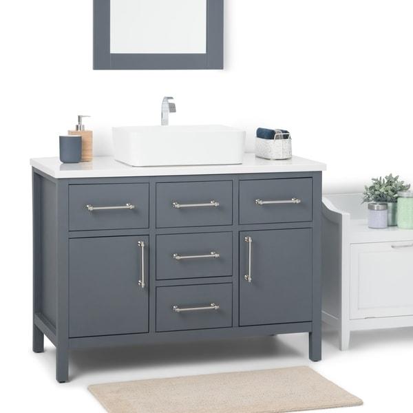 Shop WYNDENHALL Farley 42 inch Contemporary Bath Vanity in ...