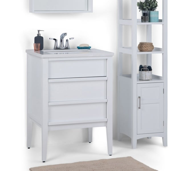 Shop Wyndenhall Dustin 24 Inch Modern Bath Vanity In White