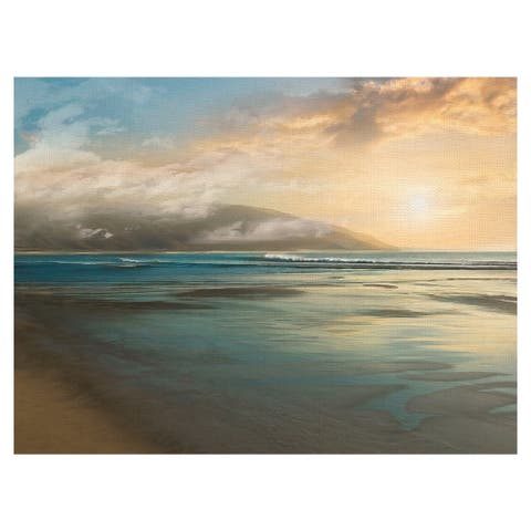 Ocean Island Mist by Mike Calascibetta Wrapped Canvas Painting Art Print