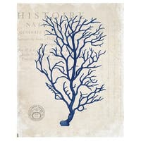 Navy Blue Coral by Stacey Powell Wrapped Canvas Art Print