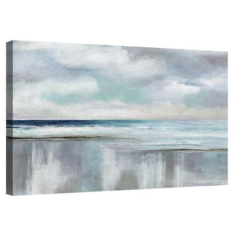 Coastal Cyan Sunset by Nan Wrapped Canvas Painting Art Print