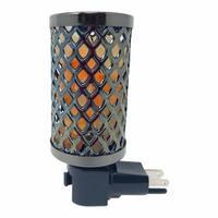 Himalayan Glow Knitted Salt Lamp Rotatable Nightlight 0.8 lbs