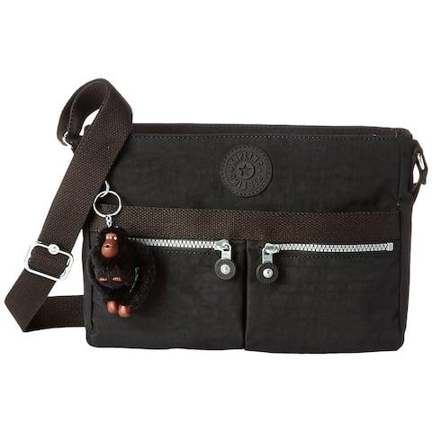 Kipling Angie Solid Convertible Crossbody Bag Black