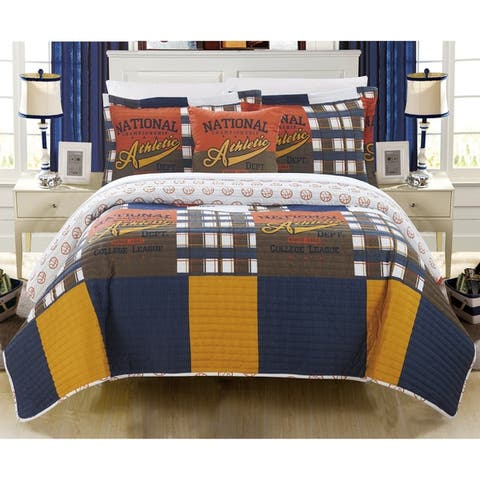Chic Home Cousy 4 Piece Reversible Quilt Set Athletic Youth Design