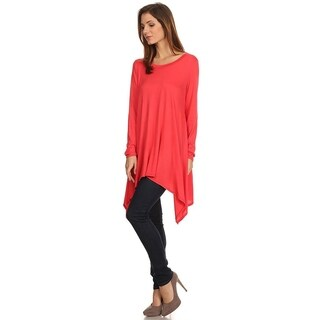 Women's Casual Long Body Top with Long Sleeves