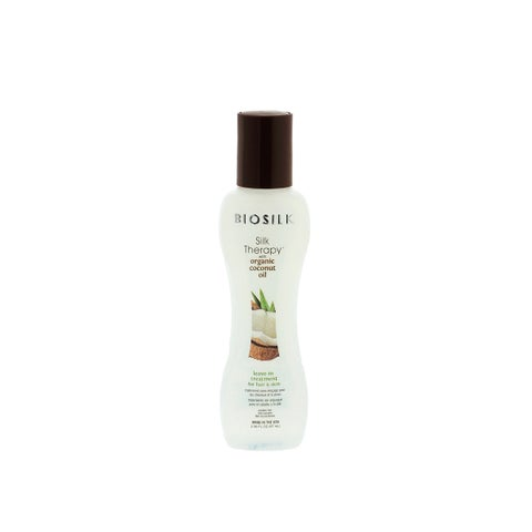 BioSilk Silk Therapy Organic Coconut Oil 2.26-ounce Leave-In Treatment for Hair & Skin