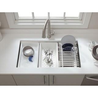 "Kohler K-5540-Na Prolific 33"" X 17-3/4"" X 11"" Under-Mount Single Bowl Kitchen Sink With Accessories - Silver"