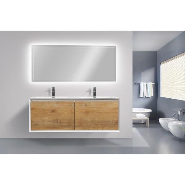 Shop Moreno Bath Flores 60 Inch Wall Mounted Modern Bathroom Vanity