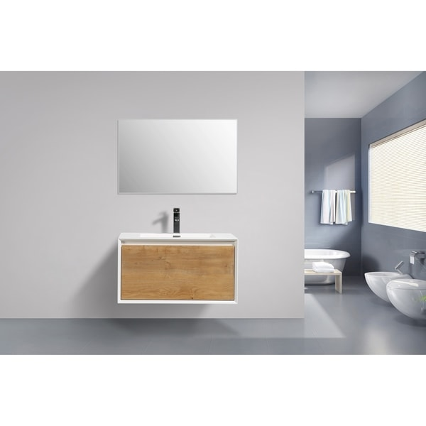 . Shop Moreno Bath Flores 30 Inch Wall Mounted Modern Bathroom Vanity