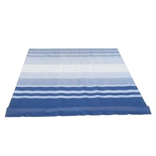 ALEKO Vinyl RV 10X8 ft Awning Replacement Fabric Blue Stripes