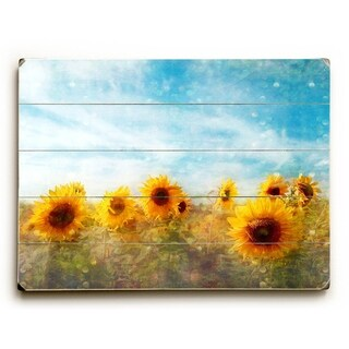 Sunflower Sky -   Planked Wood Wall Decor by Vanessa Fahmy