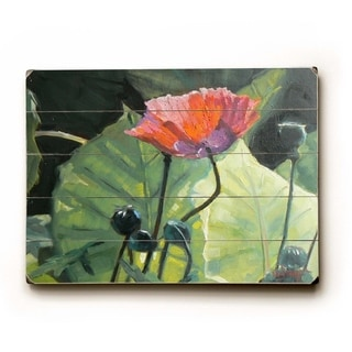 Poppies -   Planked Wood Wall Decor by Carol Schiff