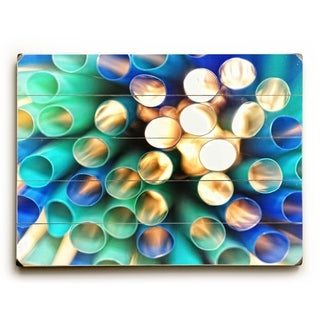 Abstract Sun light - Planked Wood Wall Decor by Lisa Argyropoulos