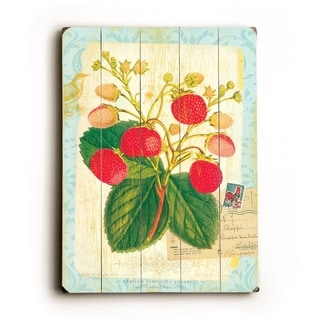 Strawberry -   Planked Wood Wall Decor by FLAVIA