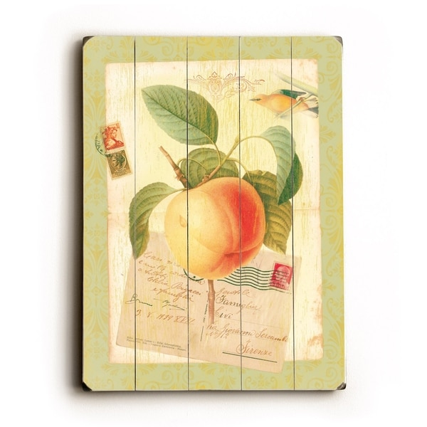Shop Peach - Planked Wood Wall Decor by Cory Steffen - Free Shipping ...