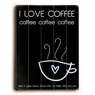 I Love Coffee -   Planked Wood Wall Decor by Cheryl Overton