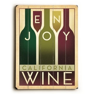 Enjoy California Wine -   Planked Wood Wall Decor by Anderson Design Group