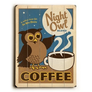 Night Owl Coffee -   Planked Wood Wall Decor by Anderson Design Group