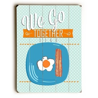 We go Together -  Planked Wood Wall Decor by  Ginger Oliphant