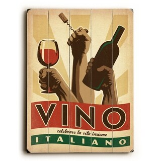 Vino Italiano -  Planked Wood Wall Decor by  Anderson Design Group