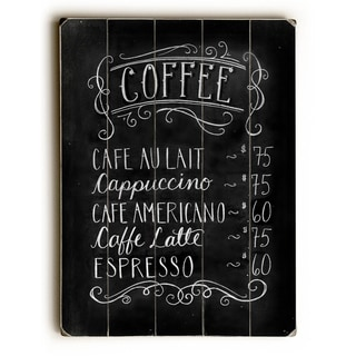 Coffee House -   Planked Wood Wall Decor by Robin Frost