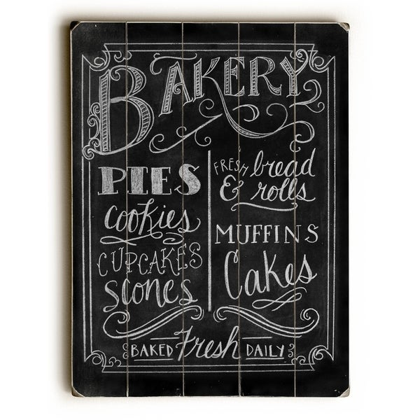 Bakery - Planked Wood Wall Decor by Robin Frost