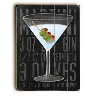 Martini -   Planked Wood Wall Decor by Cory Steffen