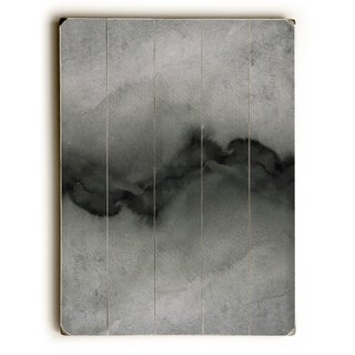 The Vibe Greyscale  - Gray  Planked Wood Wall Decor by Julia Di Sano