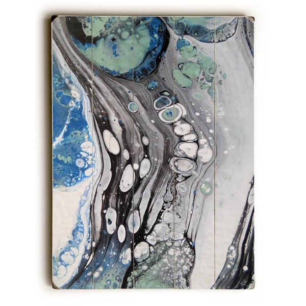Abstract Field - Gray Planked Wood Wall Decor by Carol Schiff
