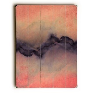The Vibe Rose Gold Violet  - Multi  Planked Wood Wall Decor by Julia Di Sano