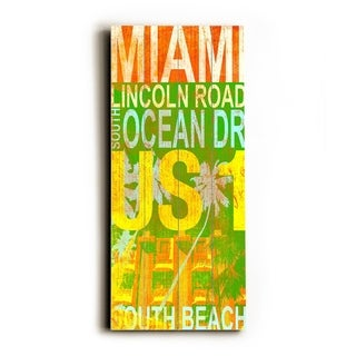 Miami Bright -   Planked Wood Wall Decor by Cory Steffen