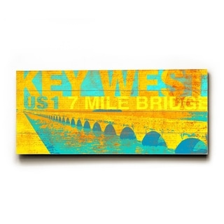 7 mile bridge -   Planked Wood Wall Decor by Cory Steffen