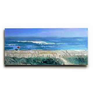 Over the Dunes -   Planked Wood Wall Decor by Carol Schiff