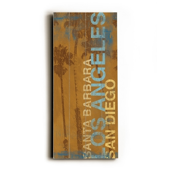 SB LA SD - Planked Wood Wall Decor by Cory Steffen