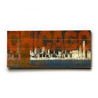 Chicago red -   Planked Wood Wall Decor by Cory Steffen