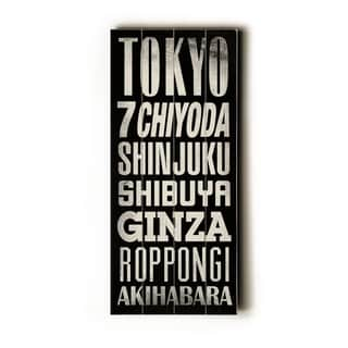 Tokyo -   Planked Wood Wall Decor by Cory Steffen