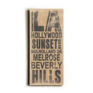 LA Hollywood -   Planked Wood Wall Decor by Cory Steffen