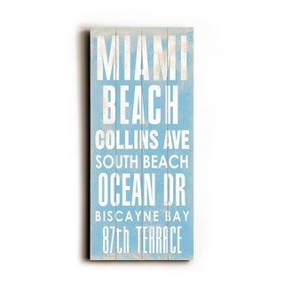 Miami beach -   Planked Wood Wall Decor by Cory Steffen