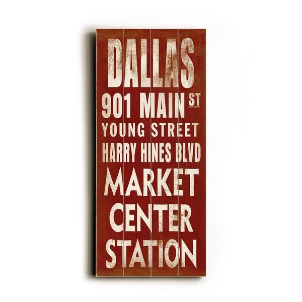Dallas - Planked Wood Wall Decor by Cory Steffen