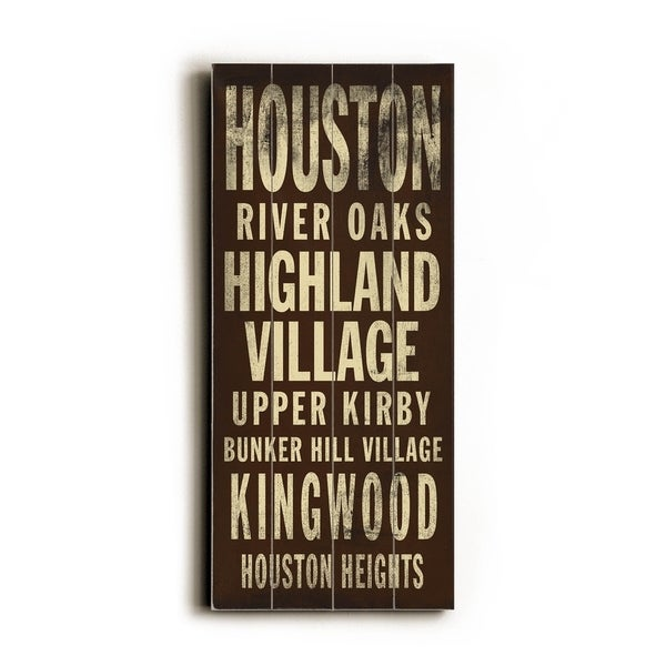 Houston - Planked Wood Wall Decor by Cory Steffen