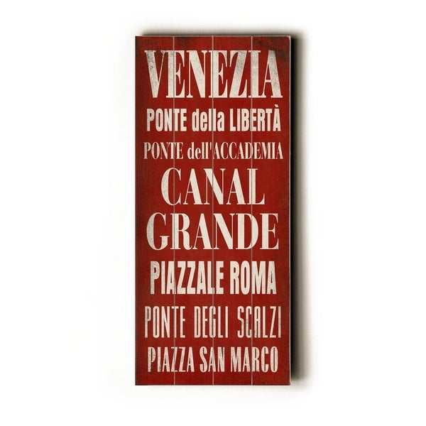 Venezia - Planked Wood Wall Decor by Cory Steffen