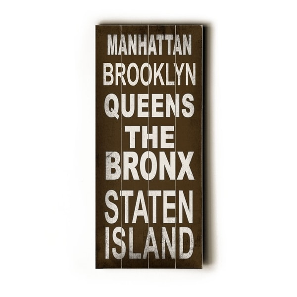 Manhattan - Planked Wood Wall Decor by Cory Steffen