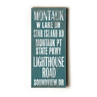 Montauk -   Planked Wood Wall Decor by Cory Steffen