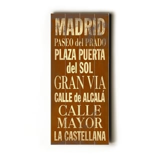 Madrid -   Planked Wood Wall Decor by Cory Steffen