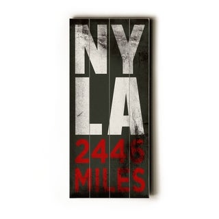 NY - LA -   Planked Wood Wall Decor by Cory Steffen