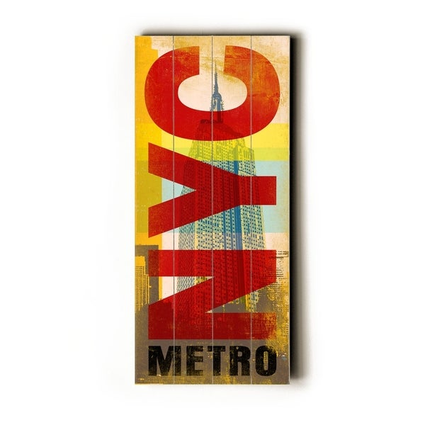 NYC Metro - Planked Wood Wall Decor by Cory Steffen