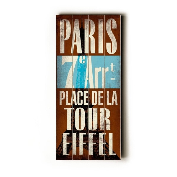 Paris - Planked Wood Wall Decor by Cory Steffen