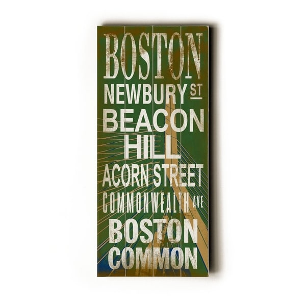 Boston - Bridge - Planked Wood Wall Decor by Cory Steffen