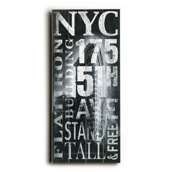 NYC Flatiron - Planked Wood Wall Decor by Cory Steffen