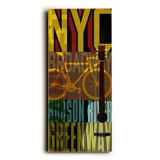 NYC -   Planked Wood Wall Decor by Cory Steffen